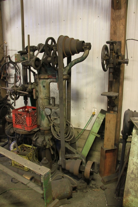 Antique drill press