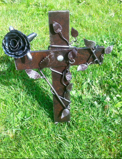 Cross grave marker