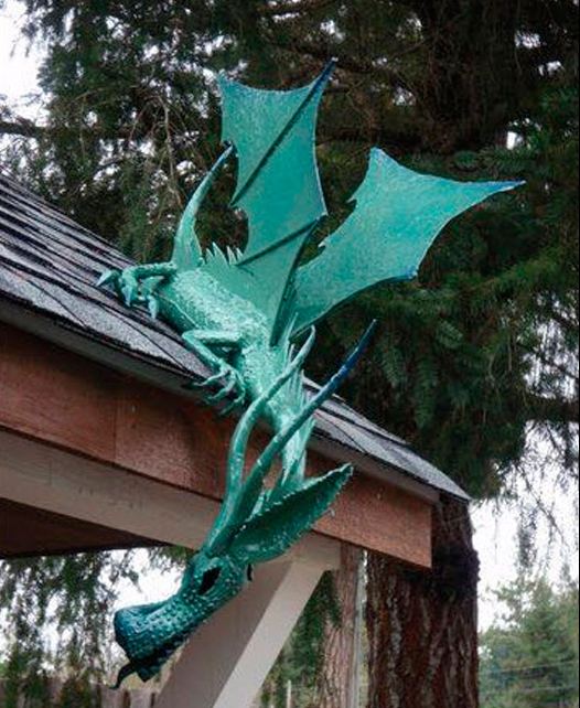 Dragon on shed