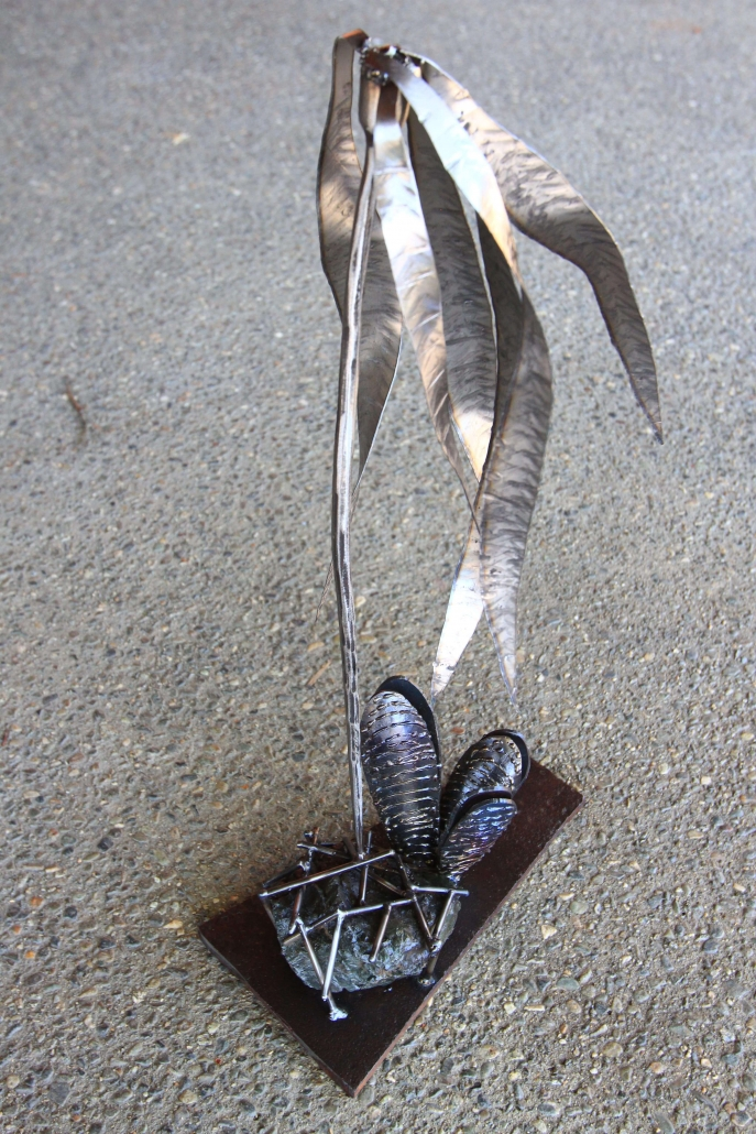 Kelp and mussels sculpture