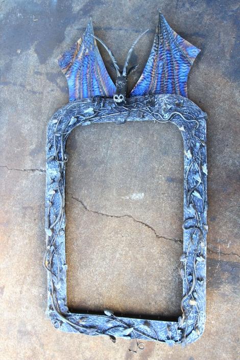 Large dragon mirror frame