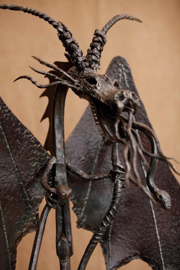 Large dragon sculpture