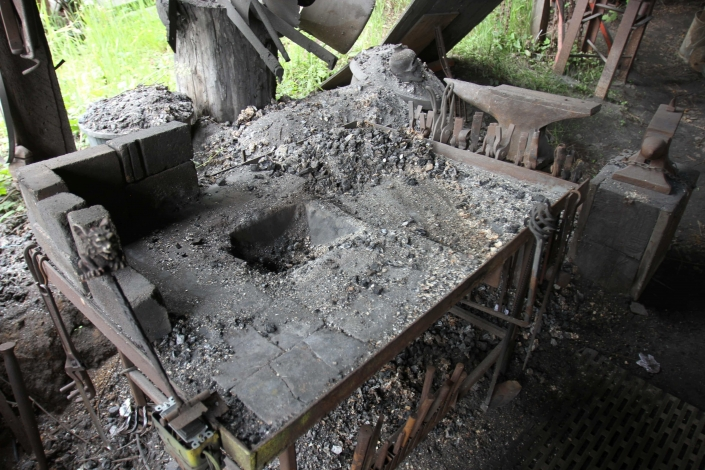 Table top coke forge