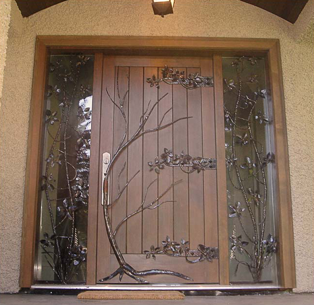Tree and vines on door
