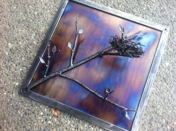 Tree nest frame sculpture