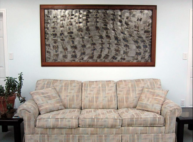 Woven wall frame