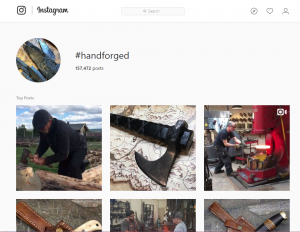 Instagram handforged