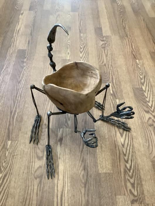 Critter applewood fruit bowl