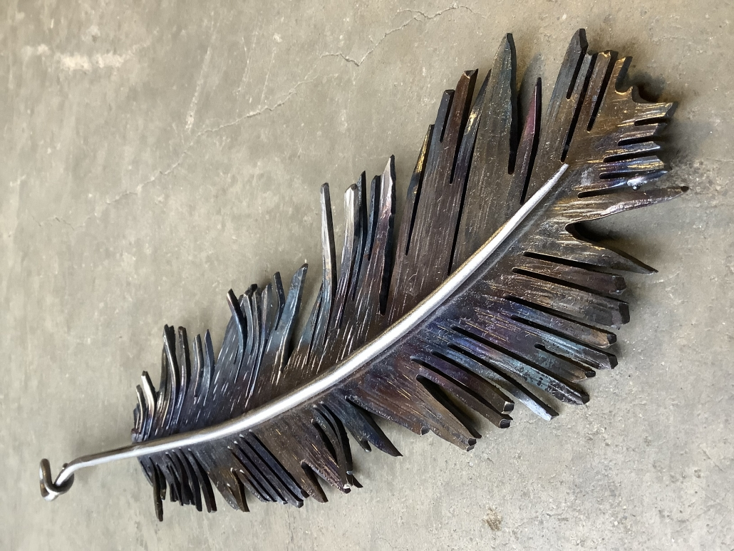 Hand-forged feather