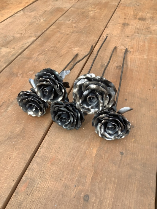 Hand-forged roses