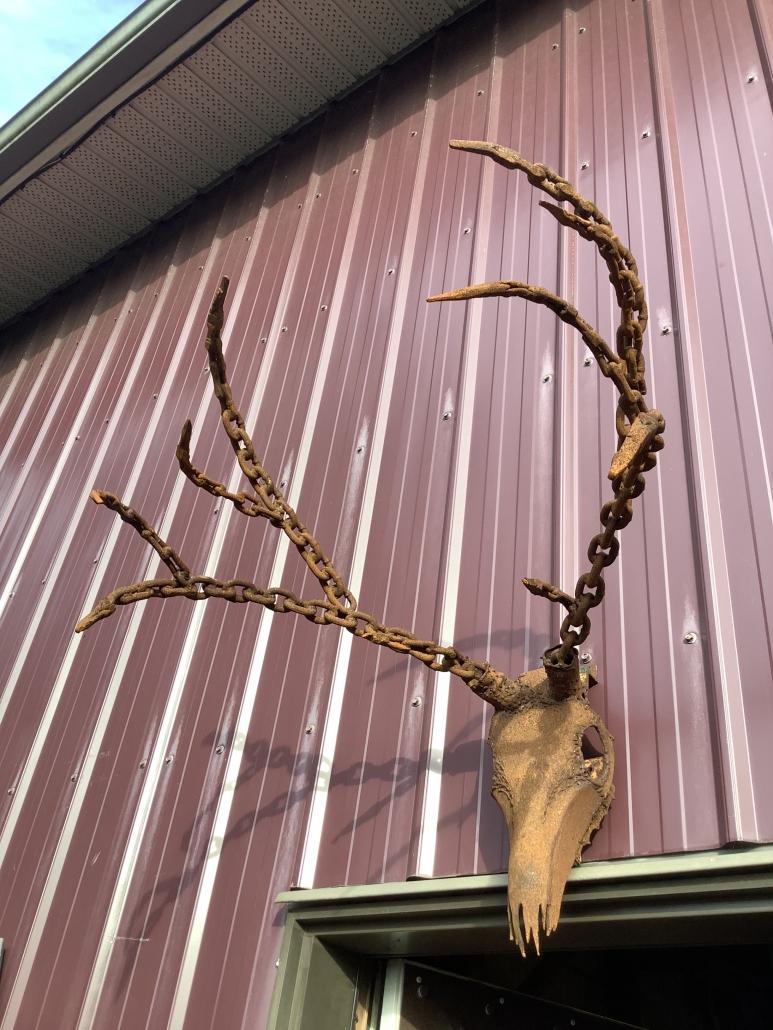 Metal antlers