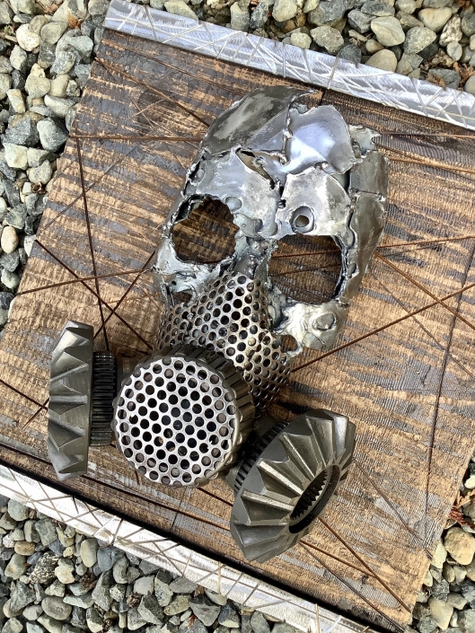 Metal skull and gas mask