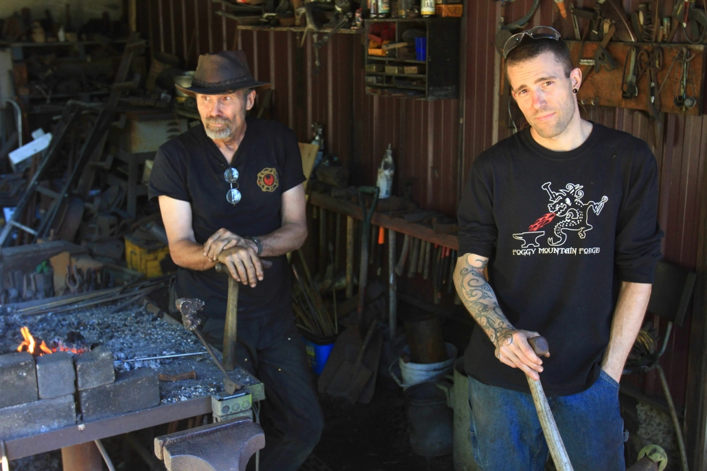 Marty and Justin Gilbertson artisan blacksmiths Vancouver island